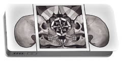 Skull Mandala Series Nr 1 Portable Battery Charger by Deadcharming Art