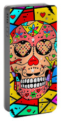 Skull Popart By Nico Bielow Portable Battery Charger by Nico Bielow