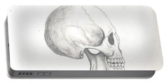 Skull Study Portable Battery Charger