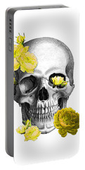 Skull Yellow Roses Portable Battery Charger