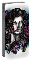 Skulls And Roses Portable Battery Charger