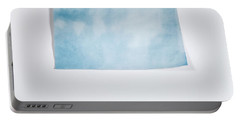 Sky Blue On White Portable Battery Charger