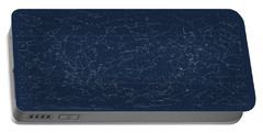 Sky Chart Map Of Stars And Constellations Portable Battery Charger