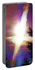Sky Cross Sunset In Northern California Portable Battery Charger