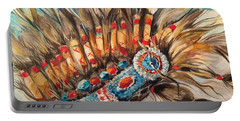Sky Feather Detail Portable Battery Charger by Heather Roddy