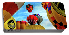 Sky Of Balloons Portable Battery Charger by Gina Savage