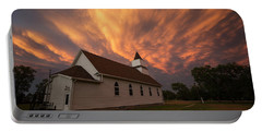 Portable Battery Charger featuring the photograph Sky Of Fire by Aaron J Groen