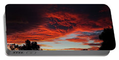 Portable Battery Charger featuring the photograph Sky On Fire by Angela DeFrias