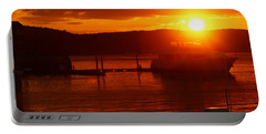 Sky On Fire Portable Battery Charger by Living Color Photography Lorraine Lynch
