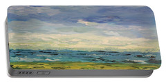 Portable Battery Charger featuring the painting Sky, Sea And Golf  by Geeta Biswas