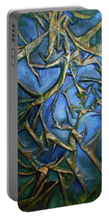 Sky Through The Trees Portable Battery Charger by Angela Stout