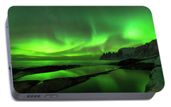 Portable Battery Charger featuring the photograph Skydance by Alex Lapidus