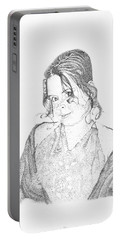 Portable Battery Charger featuring the drawing Skye by Mayhem Mediums