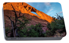 Portable Battery Charger featuring the photograph Skyline Arch At Sunset - Arches National Park - Utah by Gary Whitton