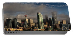 Portable Battery Charger featuring the photograph Skyline Fog by Brad Allen Fine Art