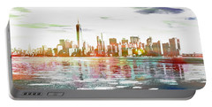 Skyline Of New York City, United States Portable Battery Charger