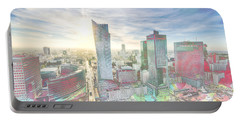 Skyline Of Warsaw Poland Portable Battery Charger