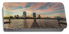 Portable Battery Charger featuring the photograph Skyline Sunset by Randy Scherkenbach