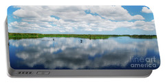 Skyscape Reflections Blue Cypress Marsh Conservation Area Near Vero Beach Florida C2 Portable Battery Charger