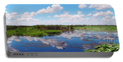 Skyscape Reflections Blue Cypress Marsh Near Vero Beach Florida C5 Portable Battery Charger