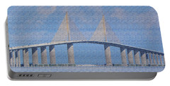 Skyway Bridge Portable Battery Charger by Rosalie Scanlon