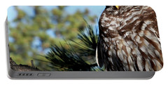 Sleeping Barred Owl Portable Battery Charger