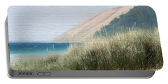 Sleeping Bear Sand Dune Portable Battery Charger by Dan Sproul