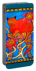 Portable Battery Charger featuring the painting Sleeping Beauty By Dora Hathazi Mendes by Dora Hathazi Mendes