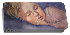 Portable Battery Charger featuring the painting Sleeping Beauty by Marilyn Jacobson