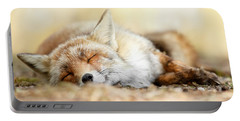 Sleeping Beauty -red Fox In Rest Portable Battery Charger by Roeselien Raimond