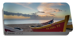 Sleeping Boats On The Beach Portable Battery Charger