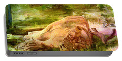 Sleeping Lionness Pushy Squirrel Portable Battery Charger