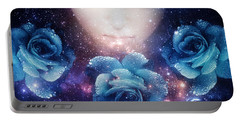 Portable Battery Charger featuring the digital art Sleeping Rose by Mo T