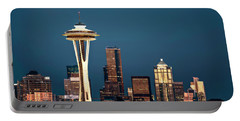 Sleepless In Seattle Portable Battery Charger by Eduard Moldoveanu