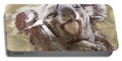 Sleepy Koala Bear In Eucalyptus Portable Battery Charger