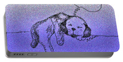 Sleepy Puppy Dreams Portable Battery Charger