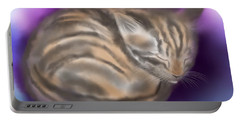 Portable Battery Charger featuring the painting Sleepy Sam by Nick Gustafson