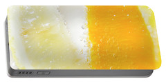 Slice Of Orange And Lemon In Cocktail Glass Portable Battery Charger