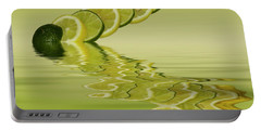 Portable Battery Charger featuring the photograph Slices Lemon Lime Citrus Fruit by David French