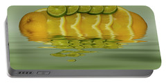 Portable Battery Charger featuring the photograph Slices Orange Lime Citrus Fruit by David French