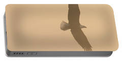 Slicing Through The Fog Portable Battery Charger by Brook Burling