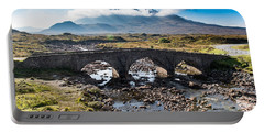 Portable Battery Charger featuring the photograph Skye Cuillin From Sligachan by Gary Eason