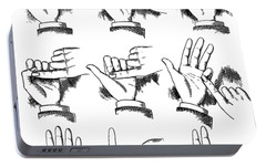 Portable Battery Charger featuring the digital art Slight Of Hand by Edward Fielding