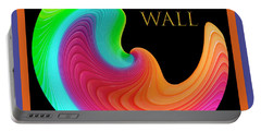 Portable Battery Charger featuring the photograph Slinky Dove Of Peace-the Gallery Wall Logo by Wendy Wilton