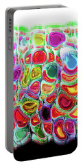 Portable Battery Charger featuring the digital art Slipping And Sliding by Menega Sabidussi