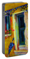 Portable Battery Charger featuring the painting Sliver Of Sunshine by Chris Brandley