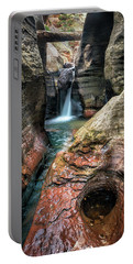 Slot Canyon Waterfall At Zion National Park Portable Battery Charger