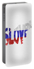 Slovenia Typographic Map Flag Portable Battery Charger