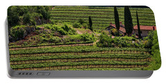 Portable Battery Charger featuring the photograph Slovenian Vineyard by Stuart Litoff