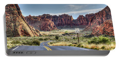 Slow Down In Snow Canyon Portable Battery Charger
